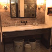 West Dover Guest Bathroom Custom Sink