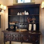 Antique Hutch to Sink, Vermont Interior Design