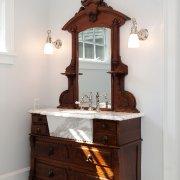 Antique Dresser to Sink, Vermont Interior Design