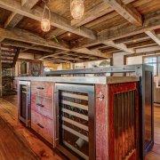 Reclaimed Barn Wood Bar, Vermont Interior Design