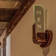 Mens Sign Light, Vermont Interior Design